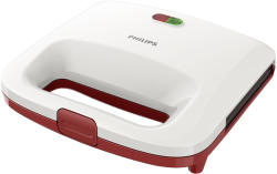 Philips Sandwich-maker Philips HD2392/40 Daily Collection 820W alb / rosu (HD2392/40)