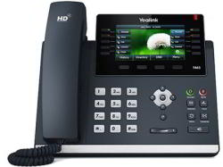 Yealink SIP-T46S Wired handset 16lines LCD Black IP phone (T46S)