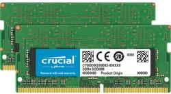 crucial Memorie laptop Crucial 16GB DDR4 2666 MHz CL19 Single Ranked x8 Dual Channel Kit (CT2K8G4SFS8266)