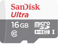 Sandisk Card Sandisk Ultra Android microSDHC 16GB 80MB Clasa 10 UHS-I (SDSQUNS-016G-GN3MN)