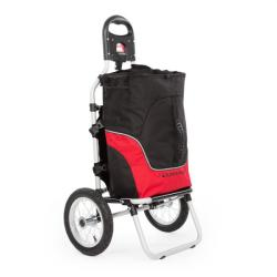 DURAMAXX CARRY Red, GEAMANTAN DE MANA SAUBICICLETĂ, MAX. Capacitate 20 KG, negru/rosu (BCT1-Carry Red)