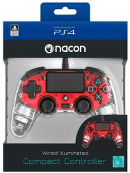 Nacon Controller Nacon Wired Illuminated Compact Light Edition Red PS4