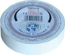 Tracon Electric Bandă izolatoare, albă - 10mx15mm, PVC, 0-90°C, 40kV/mm FEH10-15 - Tracon (FEH10-15)
