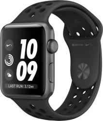 Apple Watch Nike+ 3, GPS + Cellular, Carcasa Space Grey Aluminium 42 mm, Anthracite/Black Nike Sport Band (MTH42MP/A)