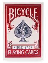 USPCC Bicycle Rider Back Rosu