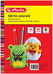 Herlitz Hartie colorata A4 asortata, 80 g/mp HERLITZ, 100 coli/top