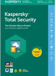 Kaspersky Total Security European Edition. 1-Device; 1-Account KPM; 1-Account KSK 2 year Renewal License Pack (KL1949XCADR)