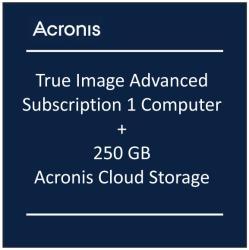 Acronis True Image Advanced Subscription - 1 Calculator + 250 GB Acronis Cloud Storage - subscriptie 1 an (THIASGLOS)