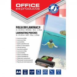 Office Products Folie pentru laminare A4 100 microni 100 buc/top OFFICE PRODUCTS (5960)