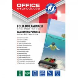 Office Products Folie pentru laminare 65 x 95 mm 125 microni 100 buc/set OFFICE PRODUCTS (5954)
