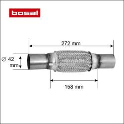 BOSAL Racord flexibil toba esapament 42 x 272 mm BOSAL 265-611