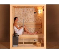 SuperSpa Sauna Traditionala Ws-1103, Superspa, Pin Finlandez/Alb, 2 Locuri, 220V~240V / 50~60Hz, 380V/50Hz, Incalzitor De 3 Kw (WS-1103)
