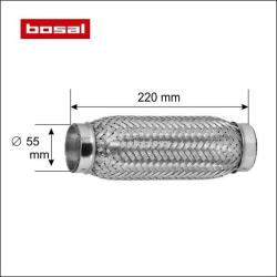 BOSAL Racord flexibil toba esapament 55 x 220 mm BOSAL 265-333
