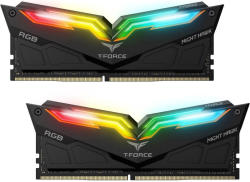 TeamGroup Memorie TeamGroup T-Force Night Hawk RGB Black 16GB DDR4 3600MHz CL18 Dual Channel Kit (TF1D416G3600HC18EDC01)