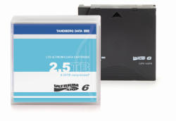 Tandberg Data LTO-6 Data Cartridge, 2.5/6.25TB, un-labeled with case (1pc, min-order qty 5pcs) (434021)