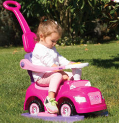 Dolu Masinuta cu maner Walk and Drive Dolu Unicorn Step 4 in 1, Roz