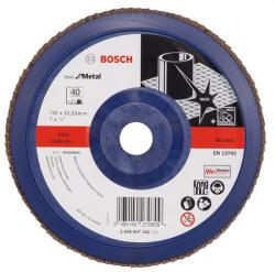 Bosch Best for Metal - Disc lamelar, profil drept, 180x22.2 mm, granulatie 40 (2608607342)