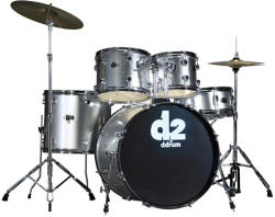 DDRUM D2 Series 5-Set Brushed Silver (D2-BS)