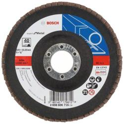 Bosch Expert for Metal - Disc lamelar, profil convex, 125x22.2 mm, granulatie 40 (2608606716)