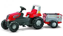 Rolly Toys Tractor cu pedale si remorca - Rolly Junior (RT800261)