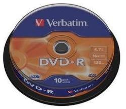 Verbatim Dvd-r 16x 4.7gb Azo Matt Spindle 10 (43523)
