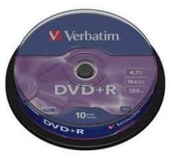 Verbatim Dvd+r 16x 4.7gb Azo Matt Spindle10 (43498)