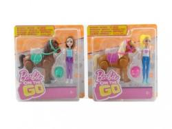 Mattel Barbie On The Go Mini Ponei si Papusa FHV60