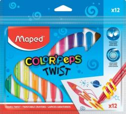 Maped Creioane cerate Color Peps Twist 12 culori/set Maped 860612
