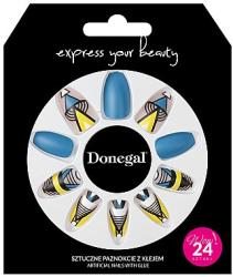 Donegal Set unghii false cu adeziv, 3051 - Donegal Express Your Beauty 24 buc