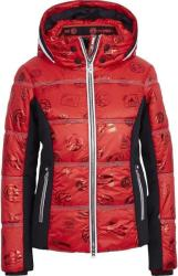 Sportalm Pfiati Womens Ski Jacket Hood with Fur Racing Red 38 (902234141-43-38)