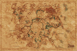 Pyramid International The Legend Of Zelda: Breath Of The Wild - Hyrule World Map Poster, (91, 5 x 61 cm)