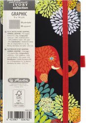 Herlitz Bloc Notes Ivory Graphic 9 X 14 Cm 192 Pagini Patratele Motiv Animal Graphic Herlitz