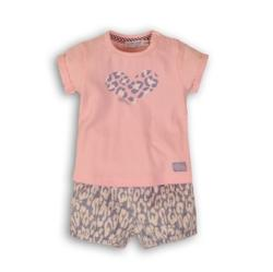 DIRKJE Set 2 piese C-SO SOFT HAPPINESS 74 Pink-Gray (AGS31C-34204-74)