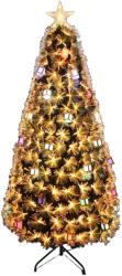 Royal Christmas Brad Artificial Gold Design 2D cu fibra optica, instalatie Led si Decoratiuni, 340cm (BL-007-1)