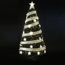 Royal Christmas Brad Artificial Luxury Design 2D cu fibra optica, instalatie Led si Stelute cu lumina calda, 270cm (BL-016)