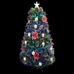 Royal Christmas Brad Artificial Luxury Design 2D cu fibra optica, instalatie Led si Decoratiuni, 290cm (BL-013-2)