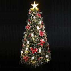 Royal Christmas Brad Artificial Luxury Design 2D cu fibra optica, instalatie Led si Decoratiuni, 270cm (BL-010)