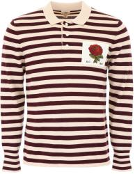 Kent And Curwen Tricou barbat Kent and curwen striped polo shirt with rose patch Multicolor xl