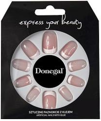 Donegal Set de unghii false, manichiură franceză - Donegal Express Your Beauty 28 buc