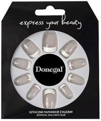 Donegal Set de unghii false, manichiură franceză, albă - Donegal Express Your Beauty 28 buc