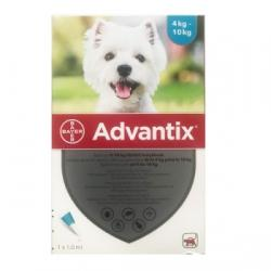 Advantix 100 Caini, 4-10 kg, 1 pipeta