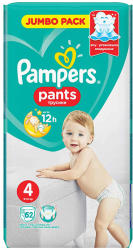 Pampers Scutece Pampers Nr. 4 62buc Pants