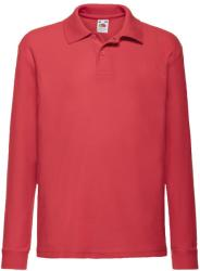 Fruit of the Loom Bluza Polo Frankie Red 140 (9-11)