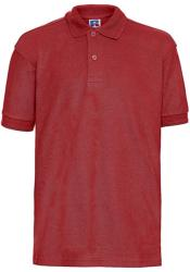 Russell Tricou Polo Adrian Bright Red L (128cm/7-8ani)