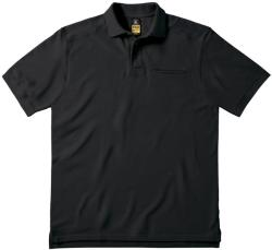B&C Pro Tricou Polo James 4XL Negru