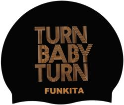Funkita turn baby turn gold swimming cap negru
