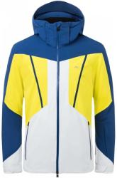 Kjus Boval Mens Ski Jacket Southern Blue/Citric Yellow 50 (MS15-G04-27358-50)