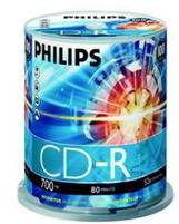Philips CD-R 700MB-80min (100 buc. Spindle, 52x) PHILIPS (CR7D5NB00/00)