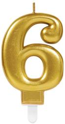 Best Party Balloons Lumanare tort cifra 6 aurie(gold)