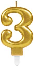 Best Party Balloons Lumanare tort cifra 3 aurie(gold)